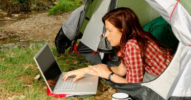 Camping with a laptop