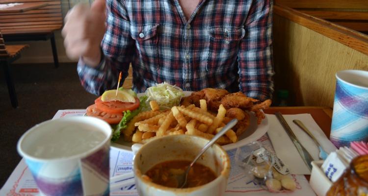 Soft-shell crab sandwich at Lobster Roll, Hamptons (Montauk)