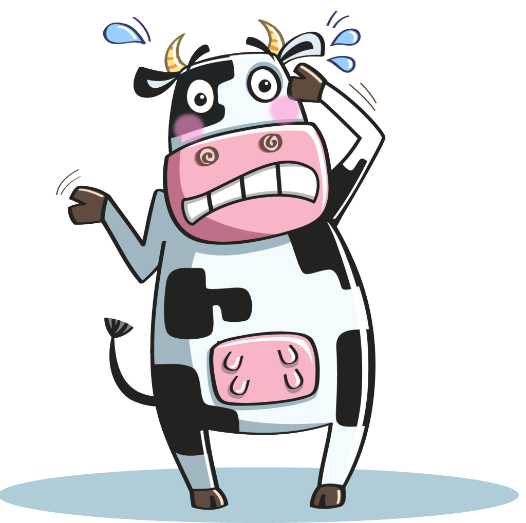 Gloria, the Mortified Cow mascot
