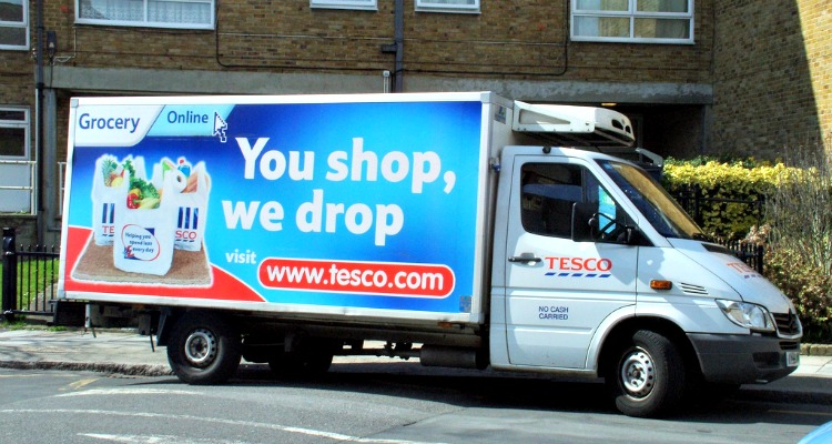 Tesco delivery van