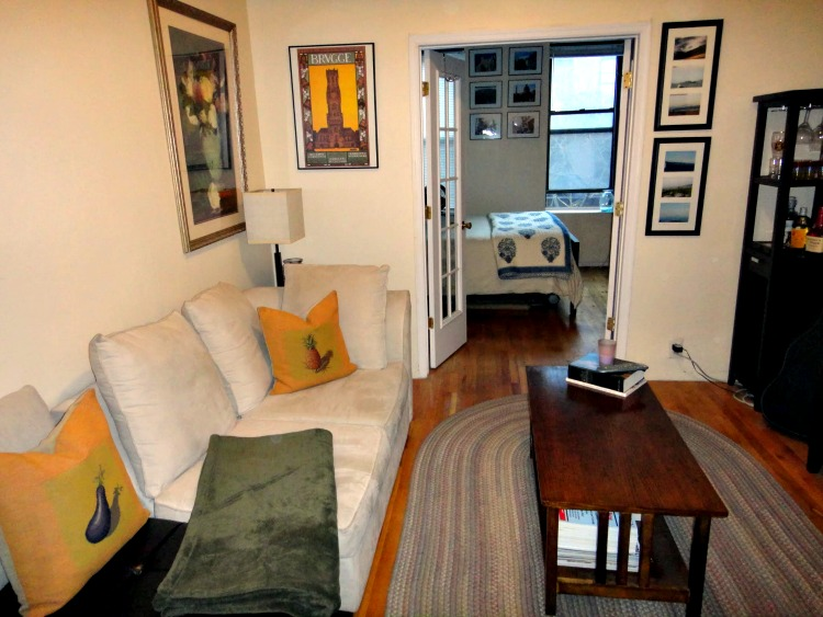 Our beautiful apartment on the UES. Let's gloss over the mouse-infestation problem...